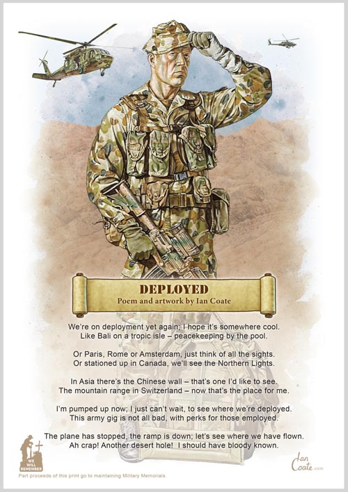 Ian Coate, Military Print, Miltary Poem