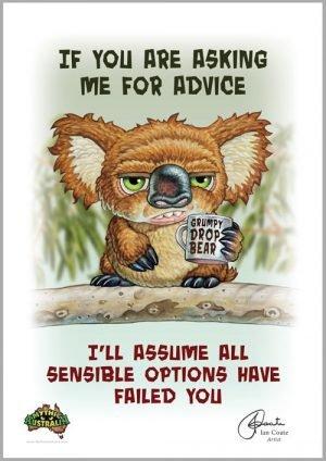 Grumpy Drop Bear- Advice